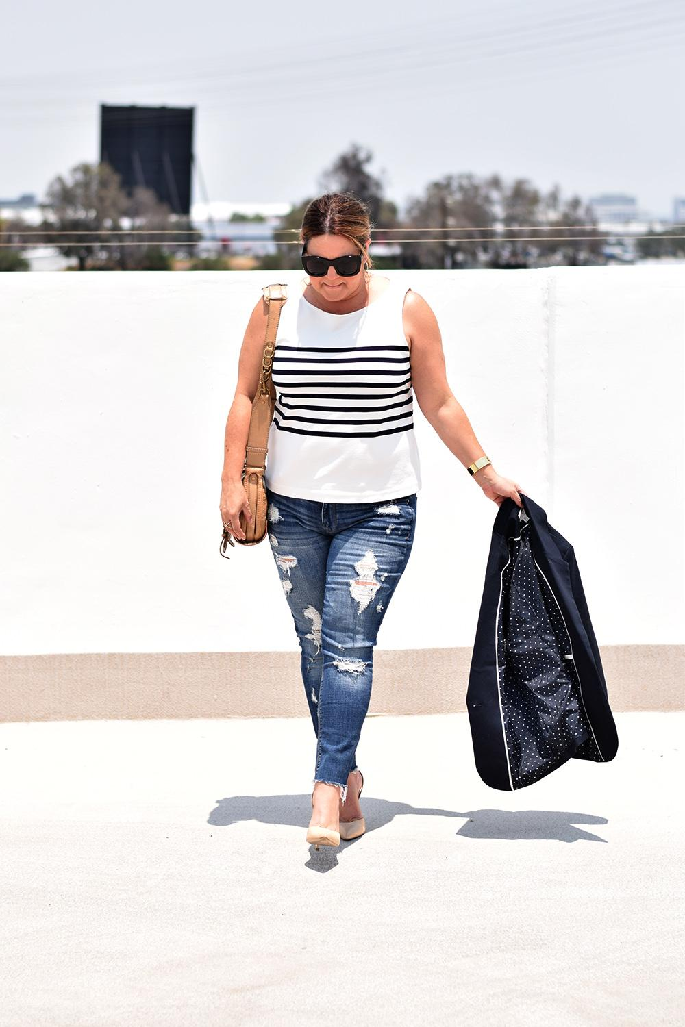 Casual Outfit Los Angeles Fashion Street Style Blogger Personal Stylist Classic Blue Blazer