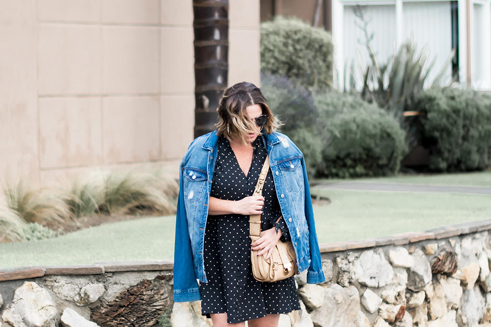 Black Polka Dot Dress Barefoot In LA Fashion Blog Stylist Best Outfits of 2018 1890