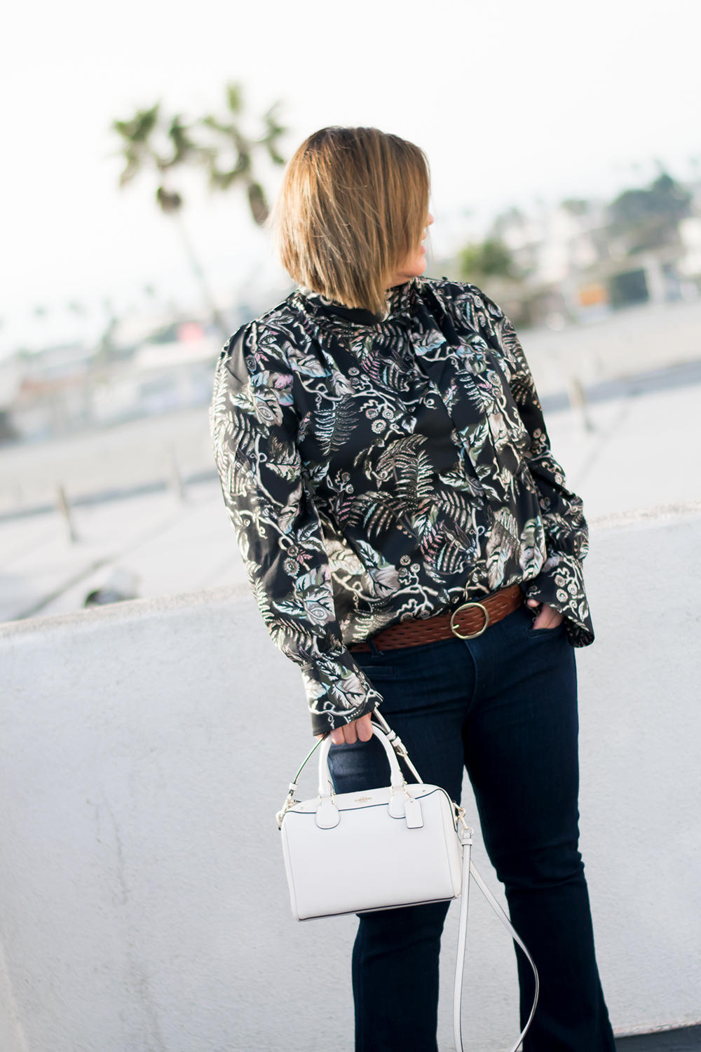 Closet Staples The Printed Blouse Wardrobe Basics Capsule Wardrobe Barefoot In LA Fashion Blog Stylist Best Outfits of 2018 0072