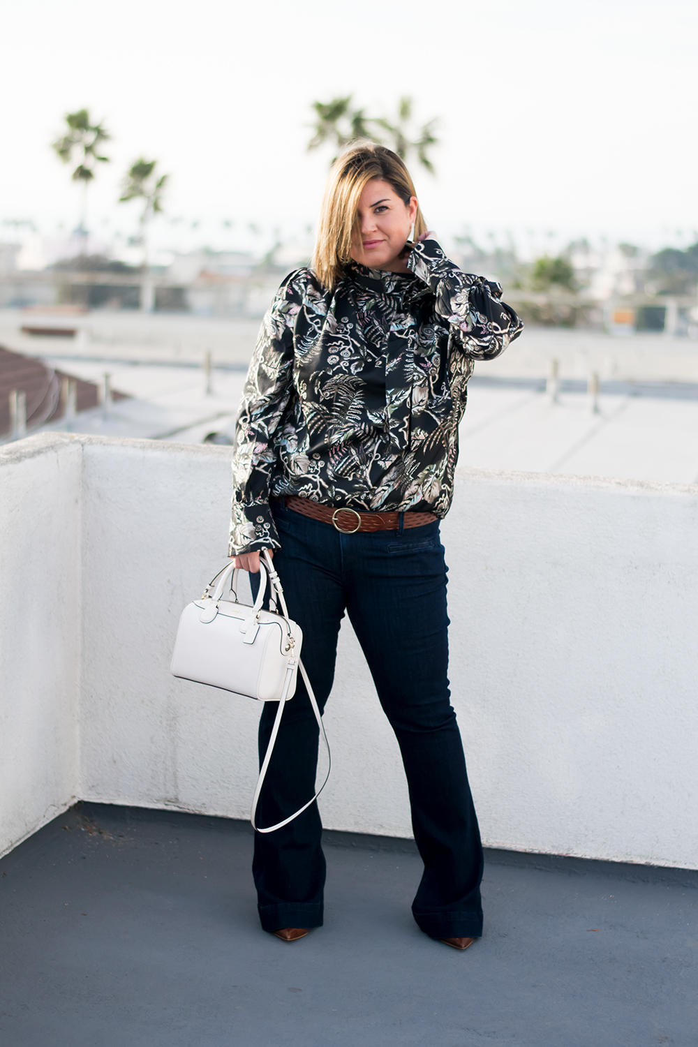Closet Staples The Printed Blouse Wardrobe Basics Capsule Wardrobe Barefoot In LA Fashion Blog Stylist Best Outfits of 2018 0075