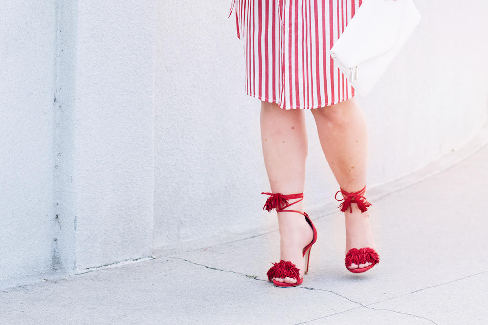 Red Stripes for Summer Striped Red Dress Who What Wear Street Style Looks to Copy in 2018 Barefoot in LA Fashion Blog Style Ideas Outfits0143