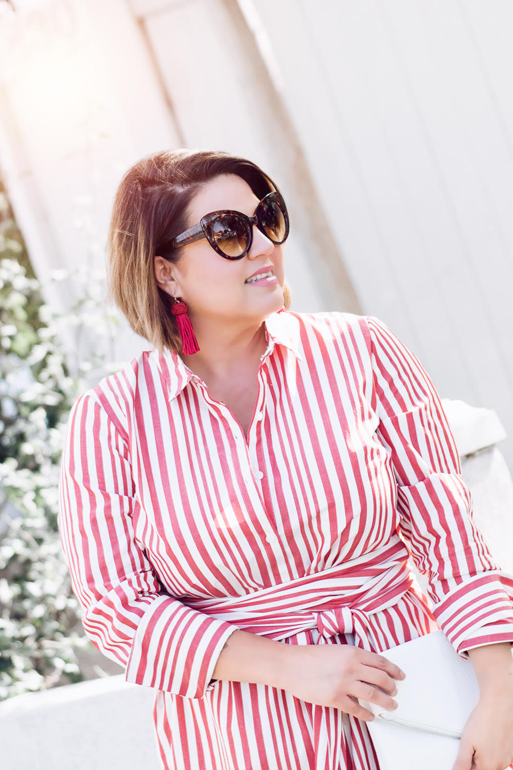 Red Stripes for Summer Striped Red Dress Who What Wear Street Style Looks to Copy in 2018 Barefoot in LA Fashion Blog Style Ideas Outfits0198